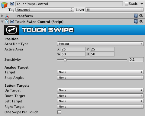 TouchSwipeControl inspector