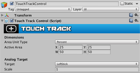 TouchTrackControl inspector